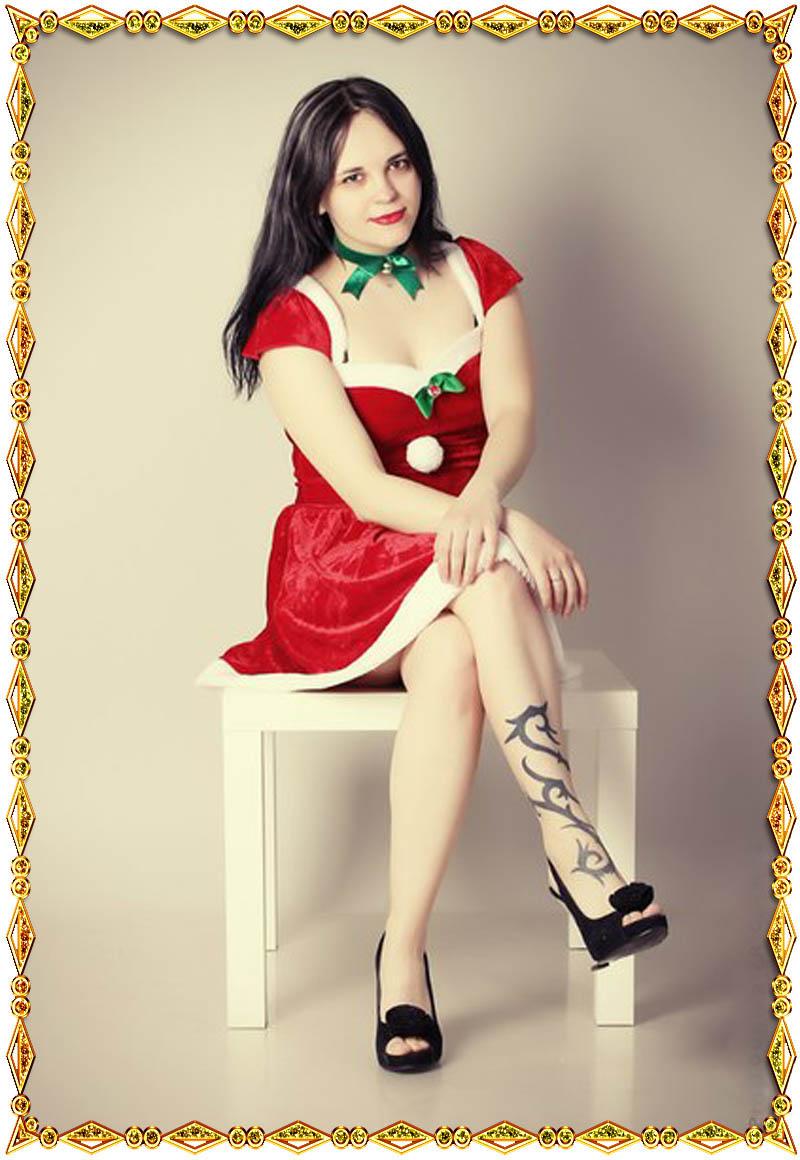 Рождественское платье Снегурочки